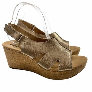 Clark's Collection Leather Wedge Sandals Annadel